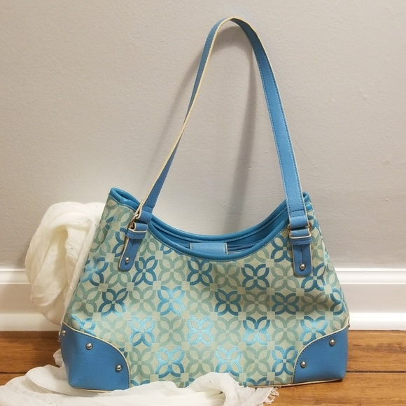 Relic Handbags - RELIC turquoise patterned purse